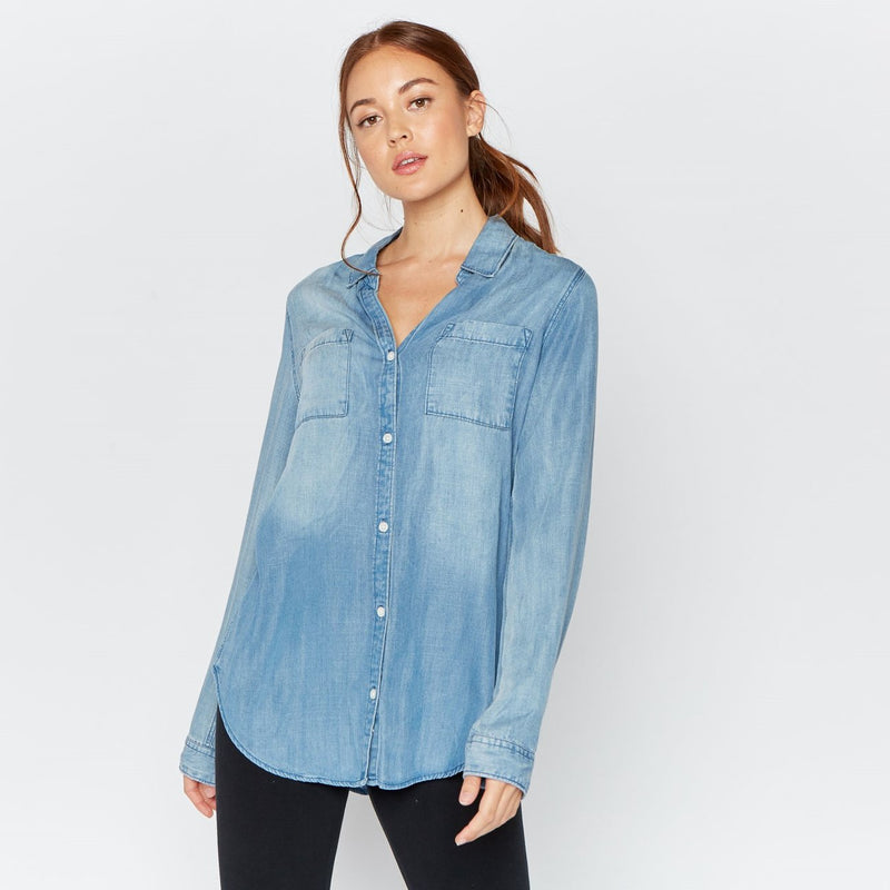 Ginger Button Down Denim Shirt