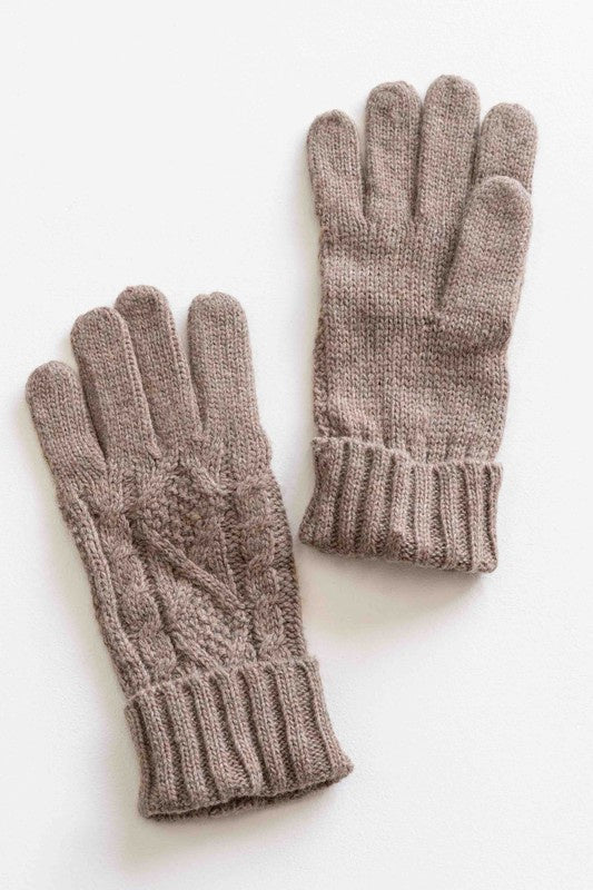 Cable Knit Gloves - FINAL SALE