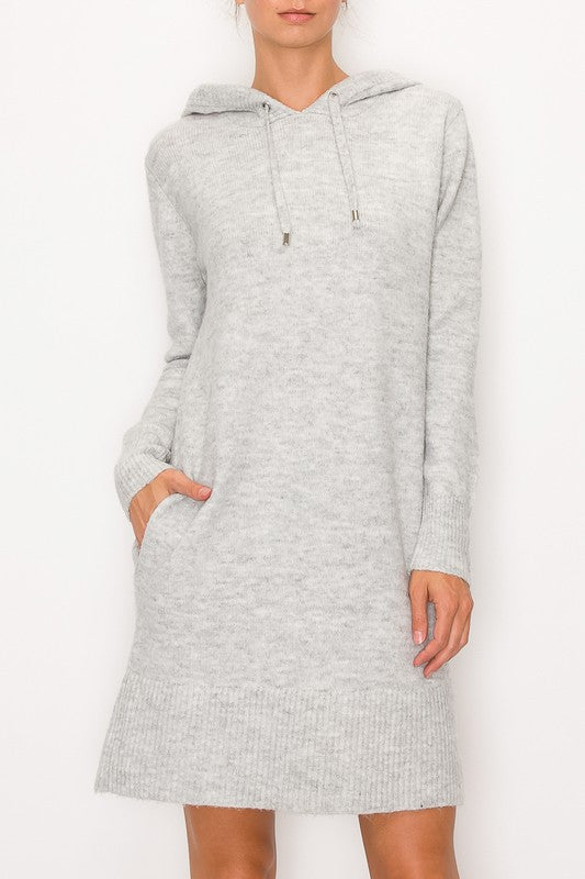 Steph Hooded Sweater Dress