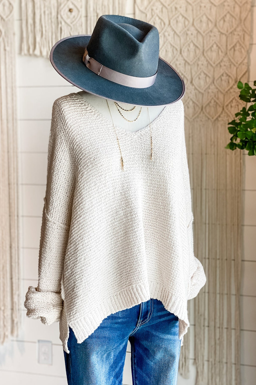 Kaylee V-Neck Knit Sweater