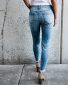 Back-kancan distressed light medium jeans  boutique bleu spokane