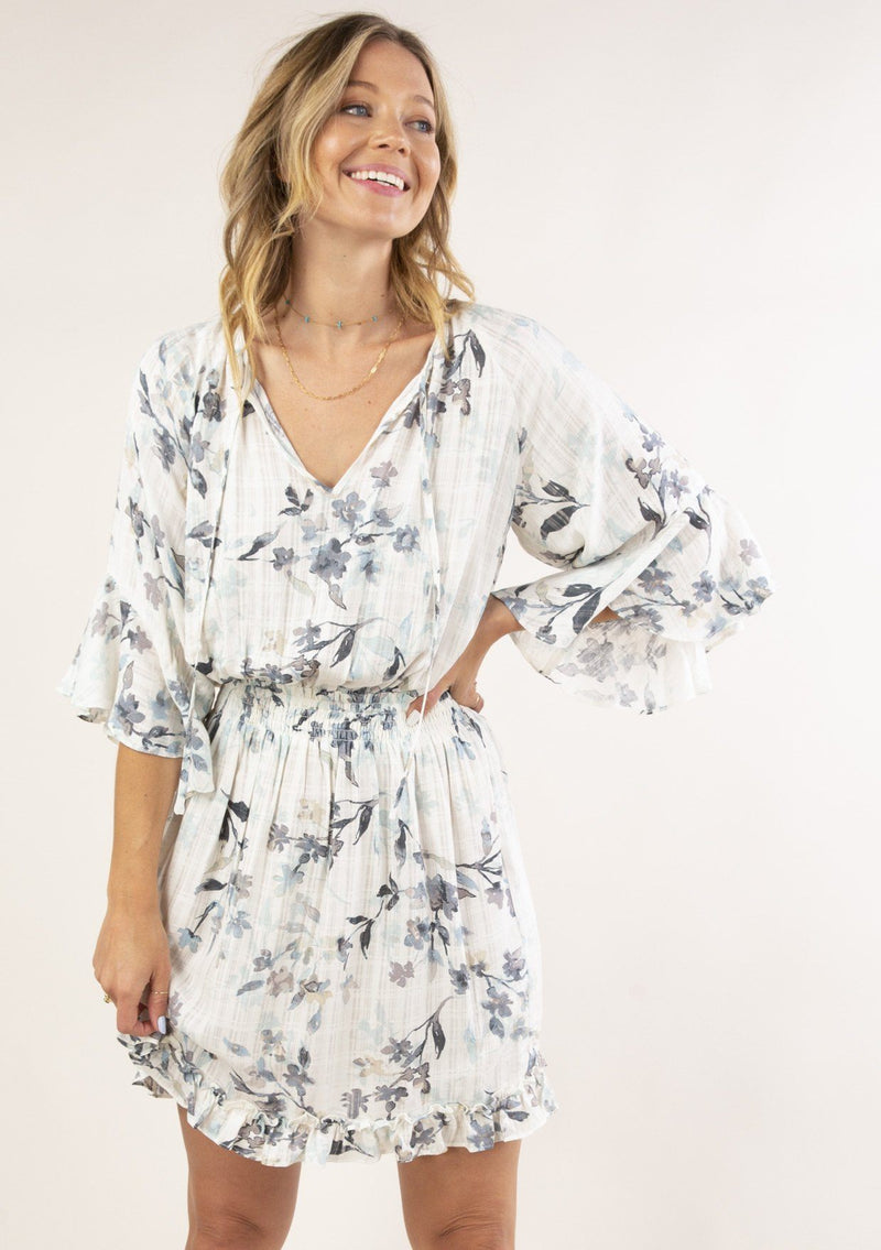 Lilia Watercolor Floral Dress