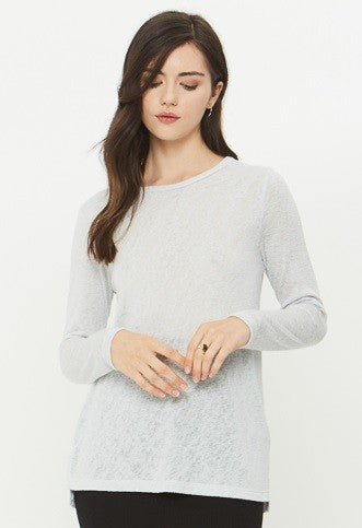 Melrose long sleeve t-shirt, casual top - boutique bleu