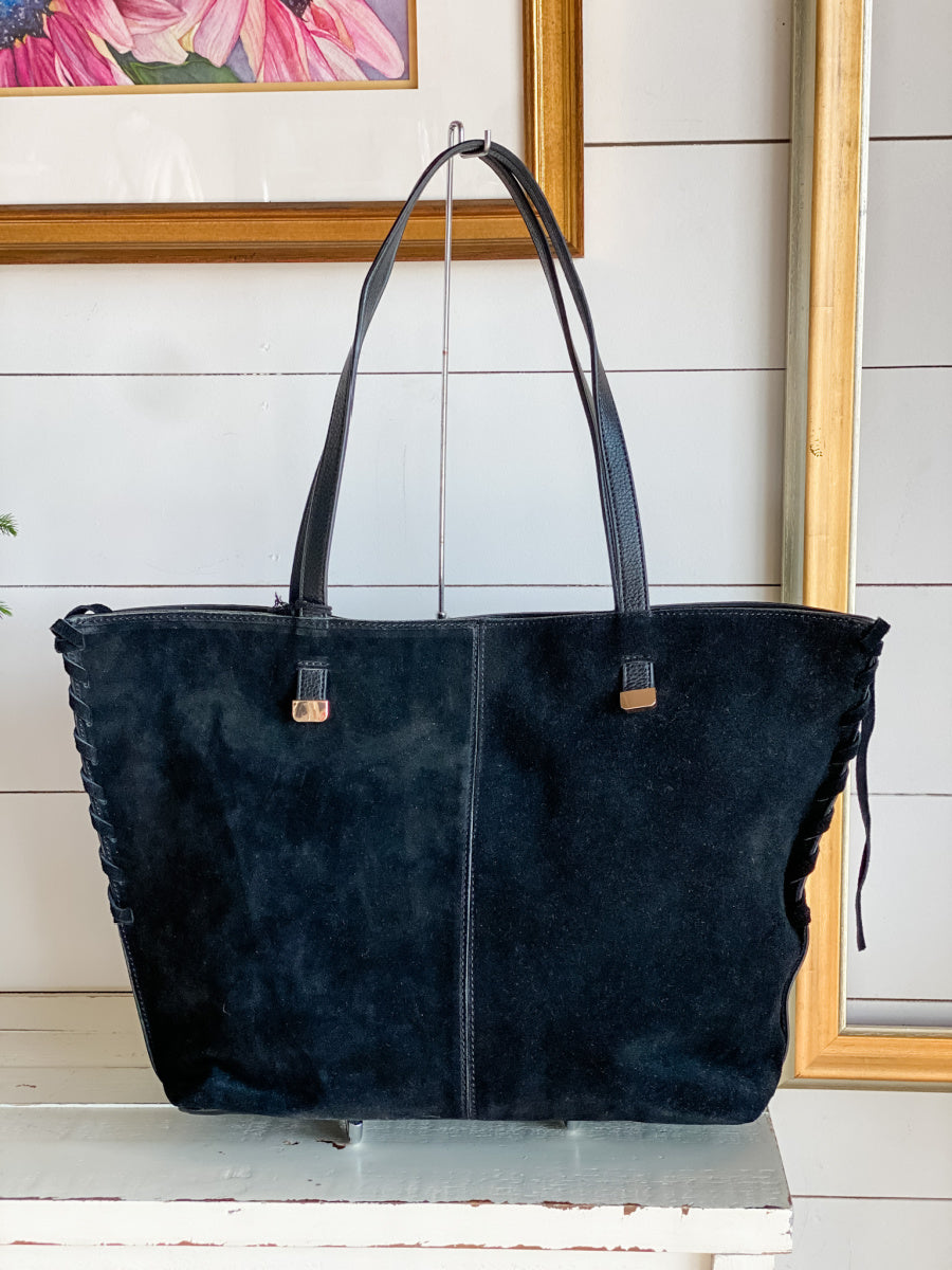 Queen Suede Leather Tote Bag