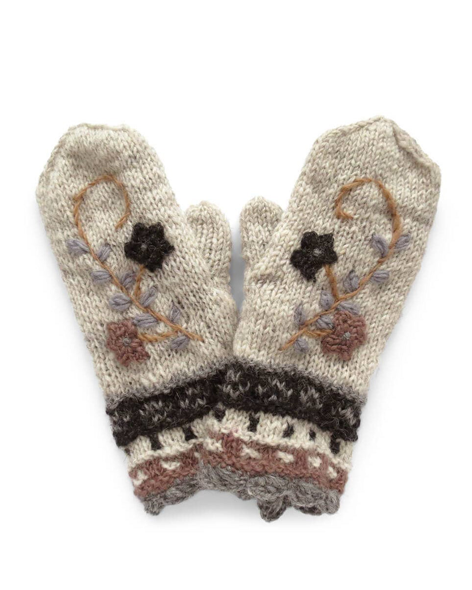 Rosemary Wool Knit Mittens