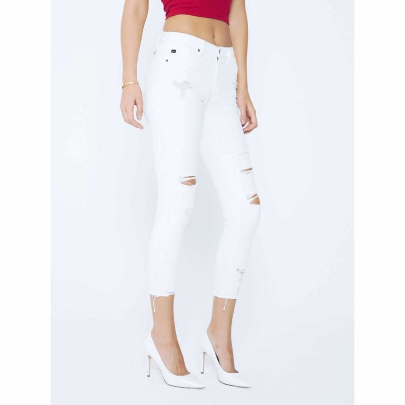 Julian Distressed Skinny Jeans - White