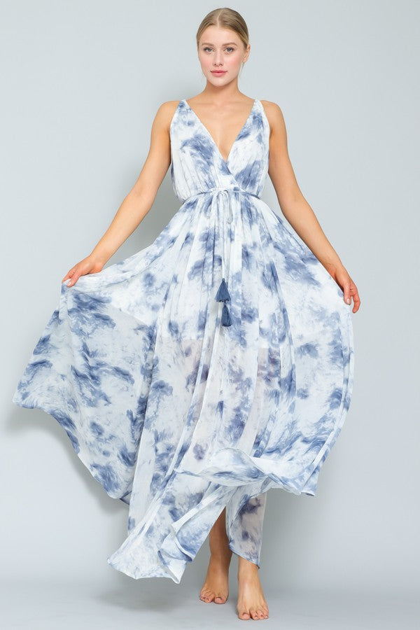 blue floral maxi dress | Boutique Bleu Spokane