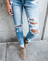 Front-kancan distressed light medium jeans  boutique bleu spokane