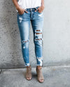 Summer Denim-kancan distressed light medium jeans  boutique bleu spokane