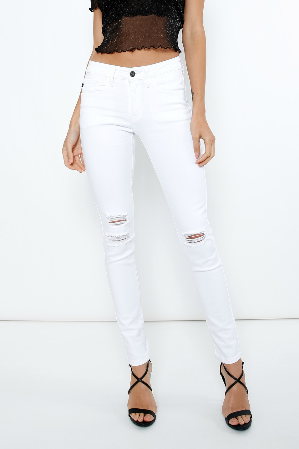 white distressed skinny jeans | boutique bleu spokane