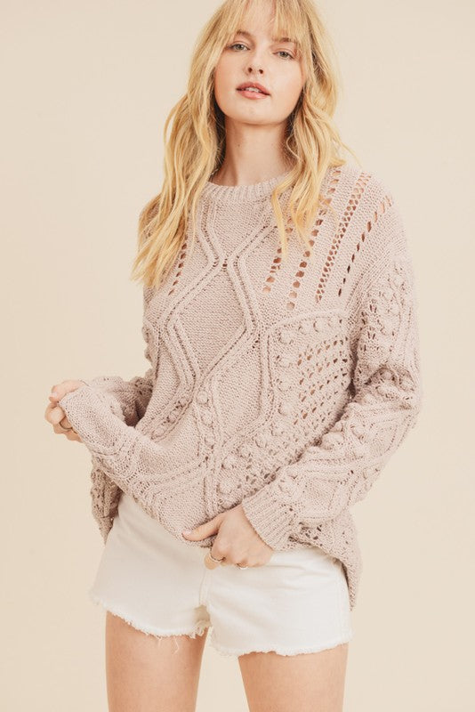 Vivian Blush Knit Sweater