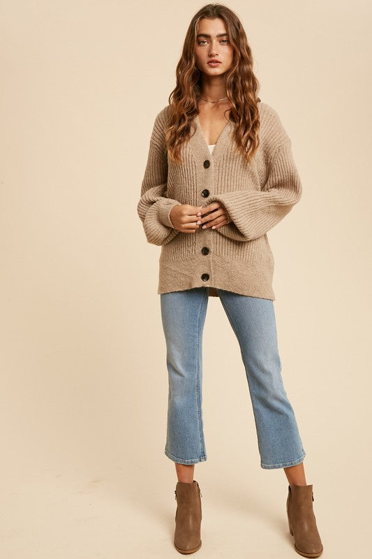 Hazel Button Front Cardigan