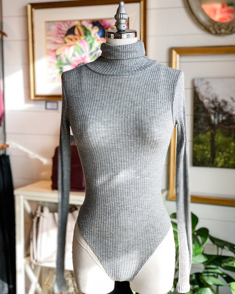 Utah Ribbed Turtleneck Bodysuit