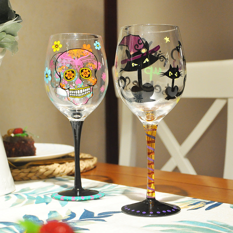 Halloween Wine Glass