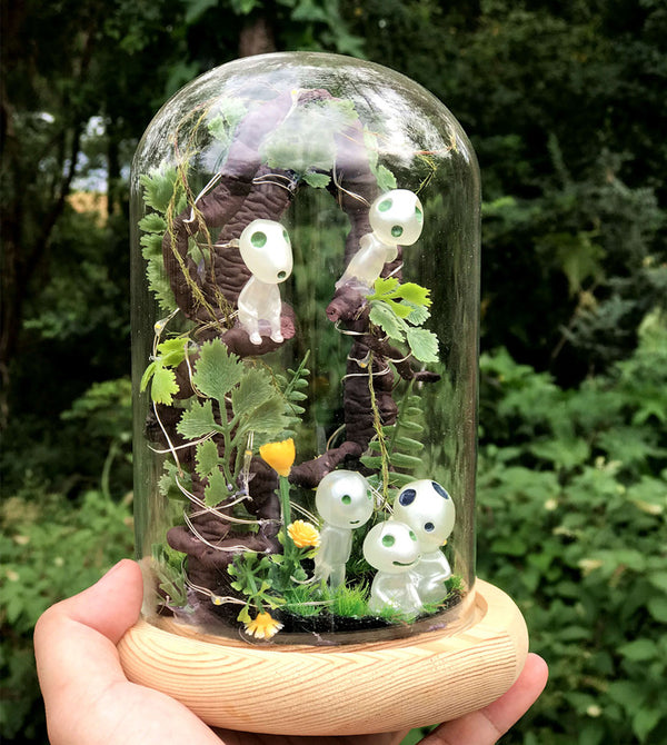 Hand Made Kodama Night Light Terrarium