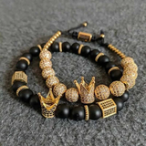 Kings Crown bracelets-GOLD - 2 PCS
