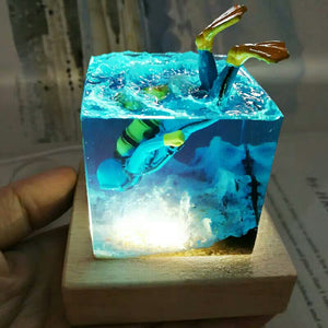 Scuba Diver Inner Landscape Night Light