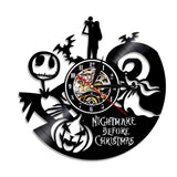 The Nightmare Before Christmas vinyl record clock