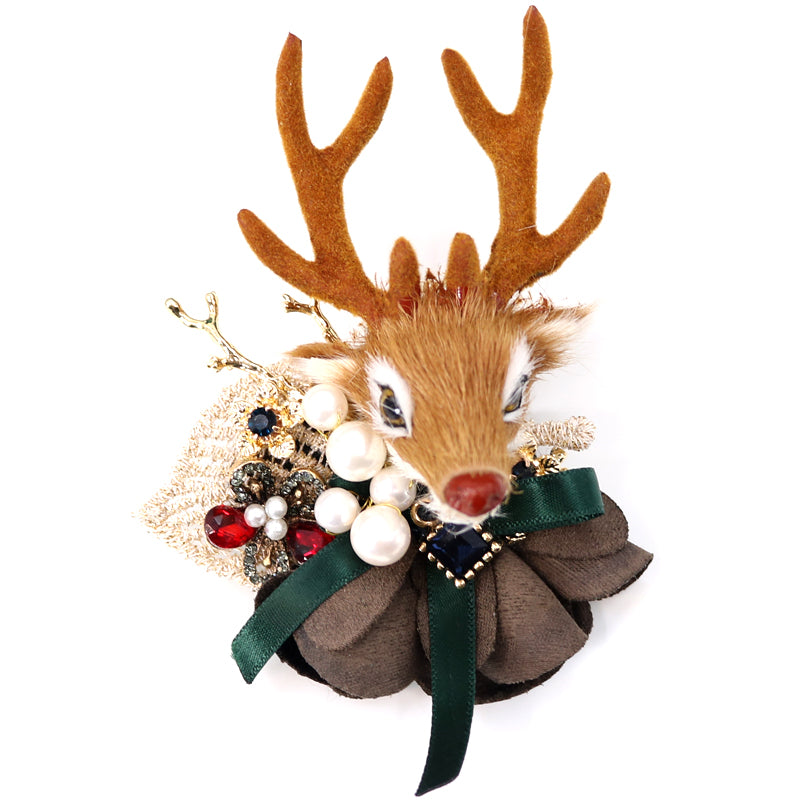 elk brooch perfect for coat decoration