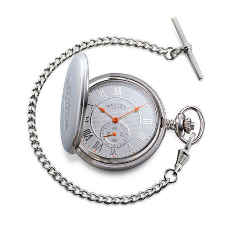FULL HUNTER POCKET WATCH WHITE/ORANGE