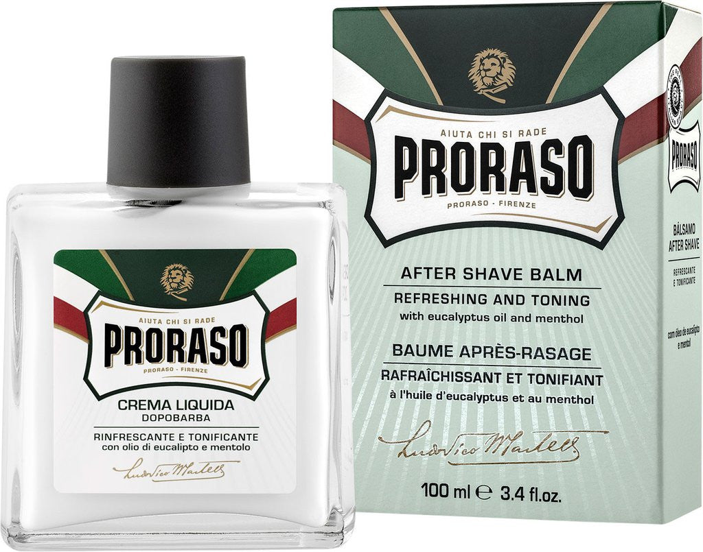 Proraso liguid aftershave balm - Eucalyptus & Menthol