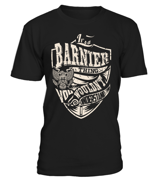 It's a BARNIER Thing, You Wouldn't Understand
