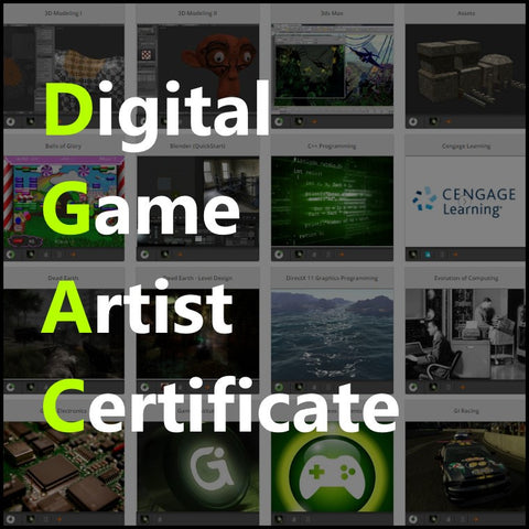 Digital Game Artist Certificate (Per Semester Plan)