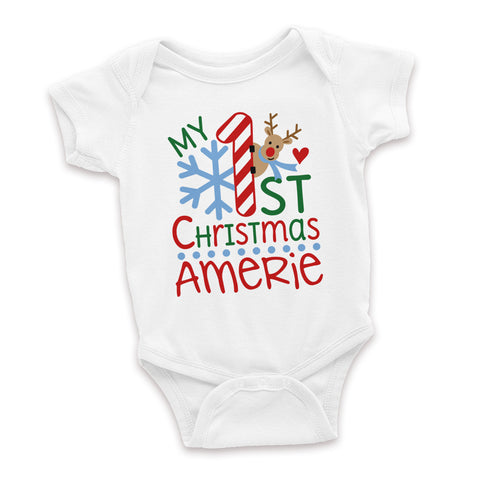 06bbbd5ae Personalized My First Christmas Baby Onesie – BoE Boutique