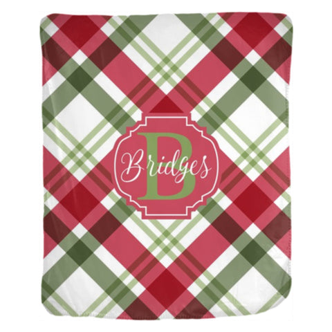 Christmas Blankets.Personalized Christmas Throw Blanket Red Green Plaid 2