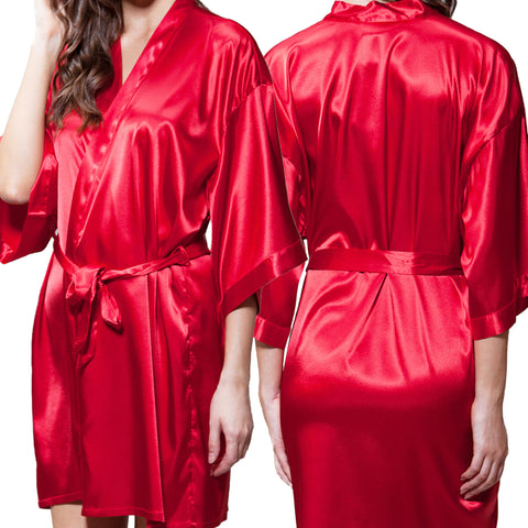 Red Satin Kimono Robe - Optional Personalization – BoE Boutique 3edb5c620