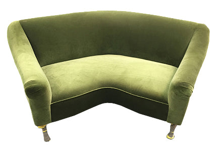 Loveseat in Crushed Velvet -Modern Furniture