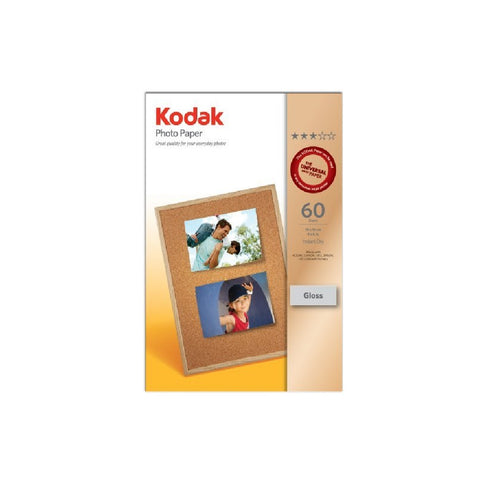 Kodak Photo Paper - 4 x 6', 10 x 15cm, A6, 180gsm - 50 Sheets