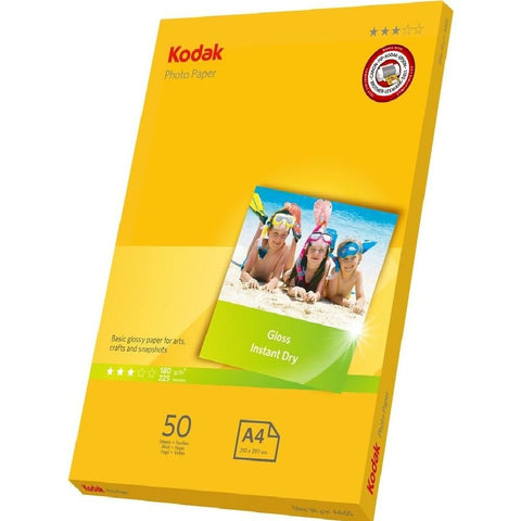 Kodak Photo Paper - 210 x 297cm, A4, 180gsm - 50 Sheets