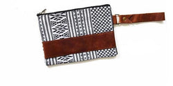 Geometric Leather Wristlet - Shop Cali Rose