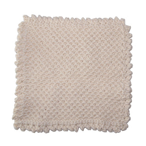 Organic Cotton Crochet Knit Washcloth