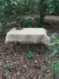 custom burlap tablecloth