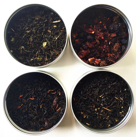 TEAliSe Best of Berries Loose Leaf Tea Sampler Collection Bestselling Cans 20 Servings of Tea Per Can