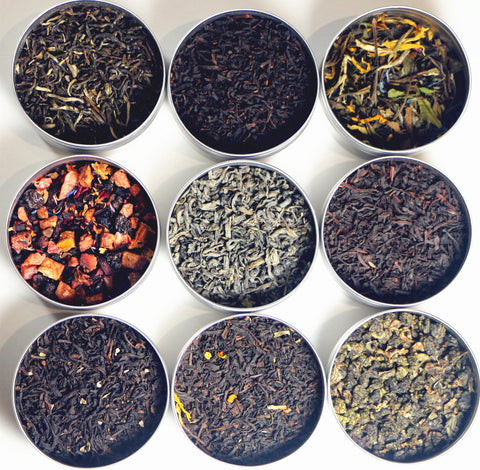 TEAliSe Loose Leaf Tea All Year Sampler Gift Set 9 Bestselling Cans 10 Servings of Tea Per Can