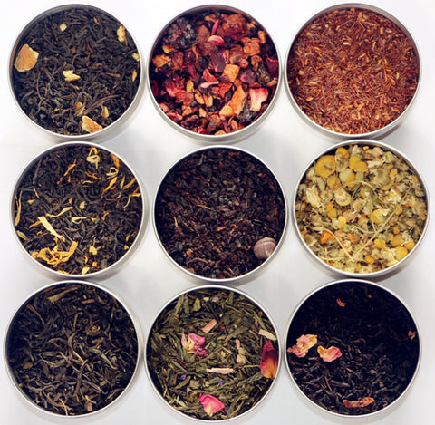 TEAliSe Loose Leaf Tea Sampler Gift Set 9 Bestselling Cans 10 Servings of Tea Per Can