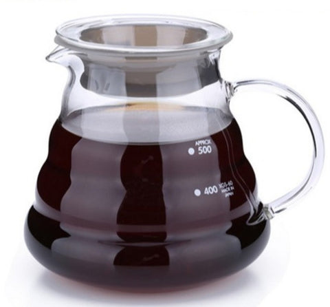 TEAliSe Heat Resistant Clear Glass Tea Coffee Range Server 600ml