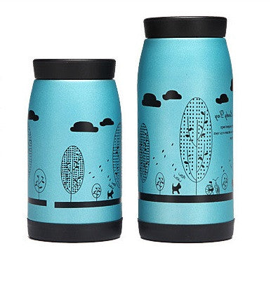 TEAlise Blue Cup Double Wall Stainless Steel Insulated Vacuum Bottle