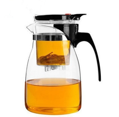 TEAlise 30 oz Heat Resistant Built in Infuser and Removable Filter Smart Brewing System for Tea and Coffee