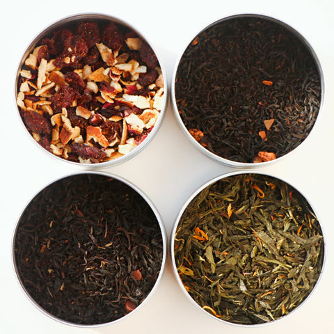 TEAliSe Best of Fall Loose Leaf Tea Sampler Collection Bestselling Cans 20 Servings of Tea Per Can