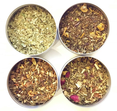 TEAliSe Best of Herbal Relief Loose Leaf Tea Sampler Collection Bestselling Cans 20 Servings of Tea Per Can