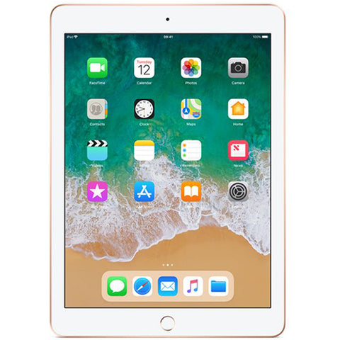 iPad 9.7 (2018 32GB 4G LTE) Gold - Front View