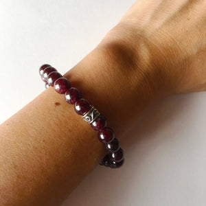 8mm Garnet Bracelet ~ Power & Money, Bracelet - Yemaya Luna
