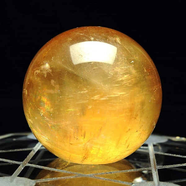 Rare Yellow  Amber Raw Quartz Crystals Ball,  - Yemaya Luna