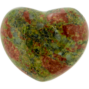 Unakite Puffy Gemstone Heart, Metaphysical - Yemaya Luna