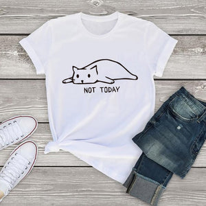 Cat not today tshirts, T- Shirt - Yemaya Luna