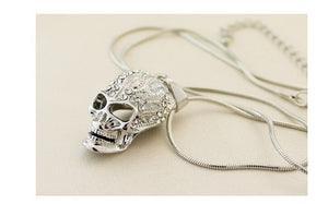 18K White Gold Plated Crystal Skull Necklaces & Pendants Unisex - Jewelry,  - Yemaya Luna